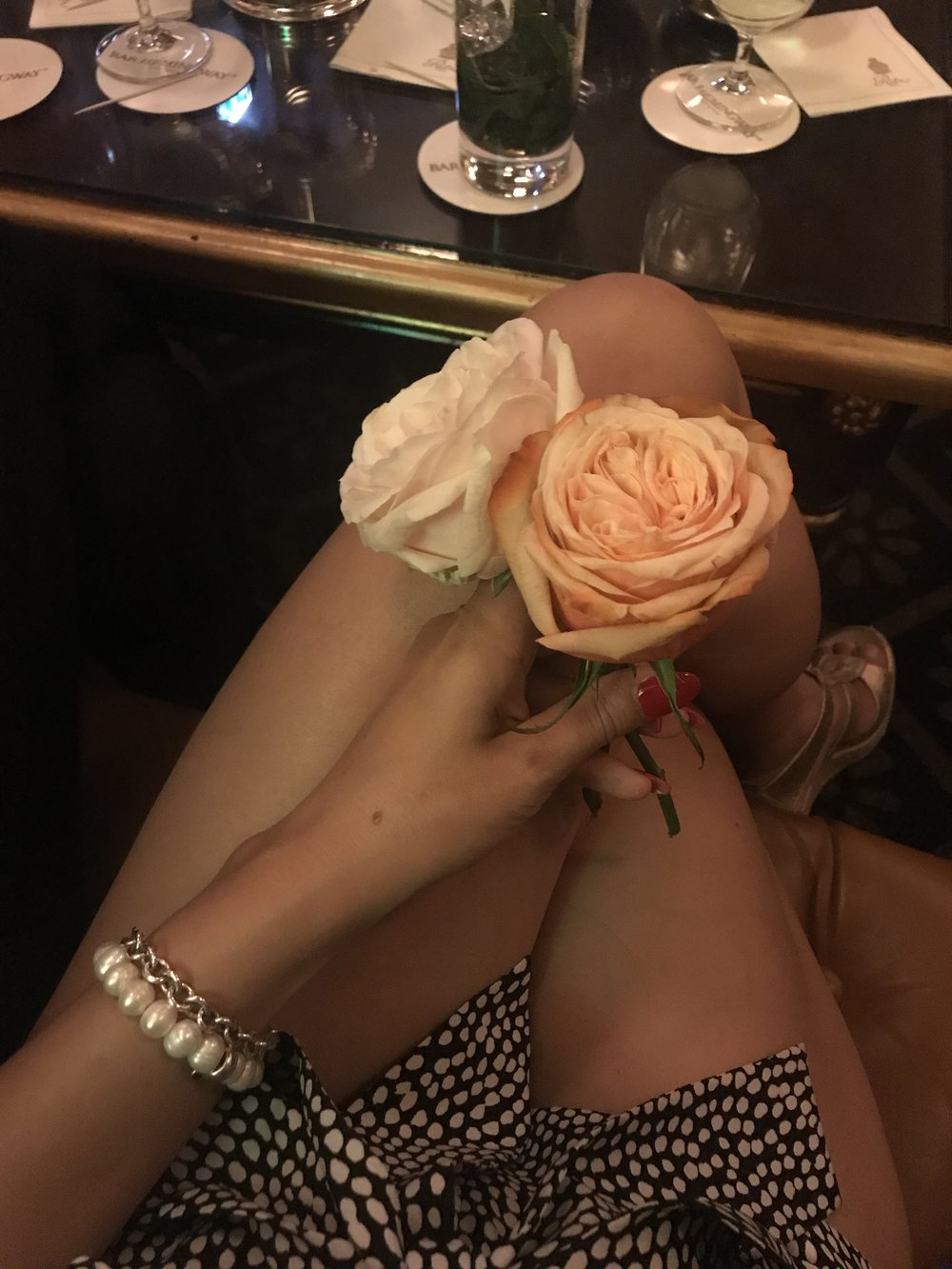 Bonus: every cocktail comes with a beautiful rose! Cant think of a better way to collect a bouquet :)