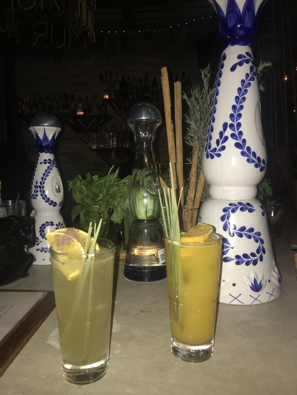 Mezcal cocktails at Mur Mur