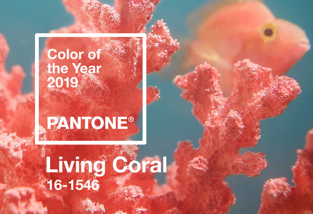 """In reaction to the onslaught of digital technology and social media increasingly embedding into daily life, we are seeking authentic and immersive experiences that enable connection and intimacy. Sociable and spirited, the engaging nature of PANTONE 16-1546 Living Coral welcomes and encourages lighthearted activity. Symbolizing our innate need for optimism and joyful pursuits, PANTONE 16-1546 Living Coral embodies our desire for playful expression.""   Pantone"