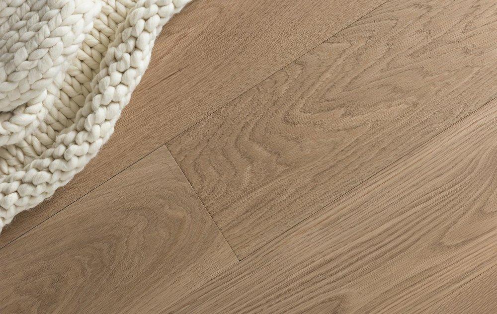 Wide plank white oak flooring. Image Source:  Craft Floor