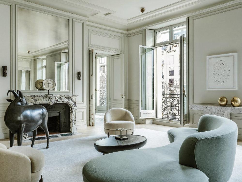 Refined and contemporary home in Paris by Joseph Dirand. Image Source:  Boca Do Lobo