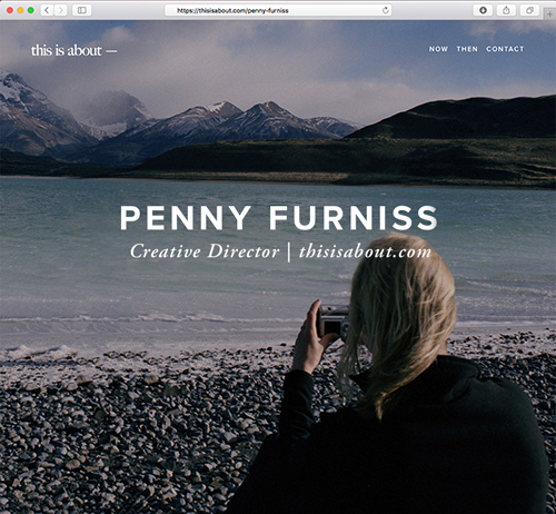 Penelope Furniss thisisabout.com