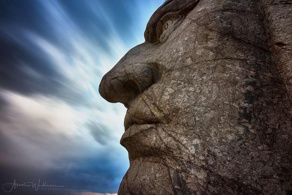 The face of crazy horse, A7rii 120sec shutter, f13