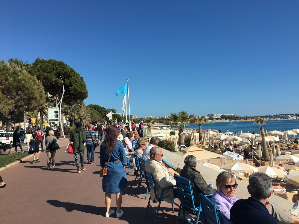 On the famous Boulevard de la Croisette in Cannes