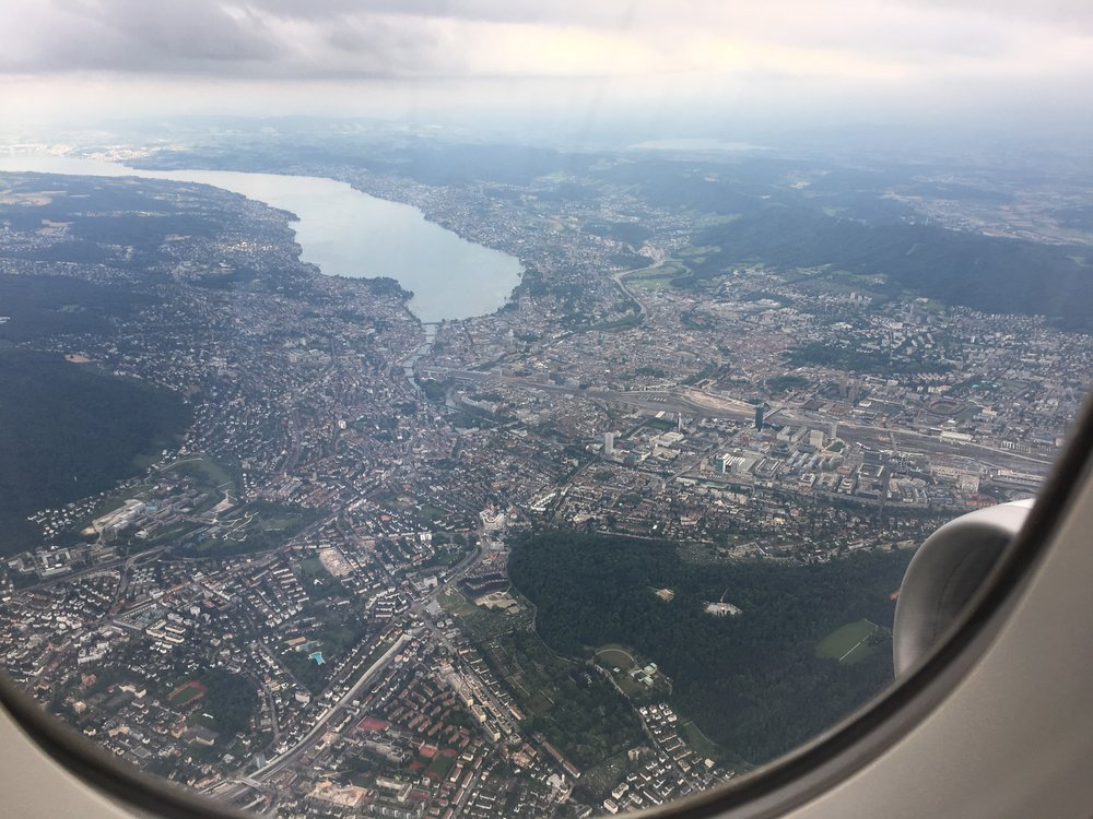 Zurich and the lake from above