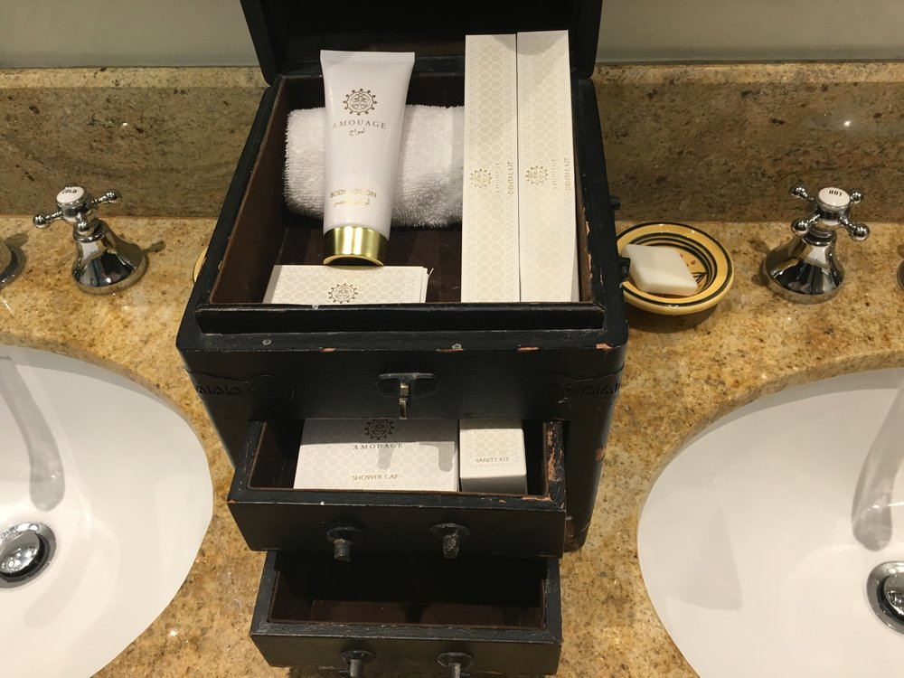 Great Amouage amenities in a fitting package