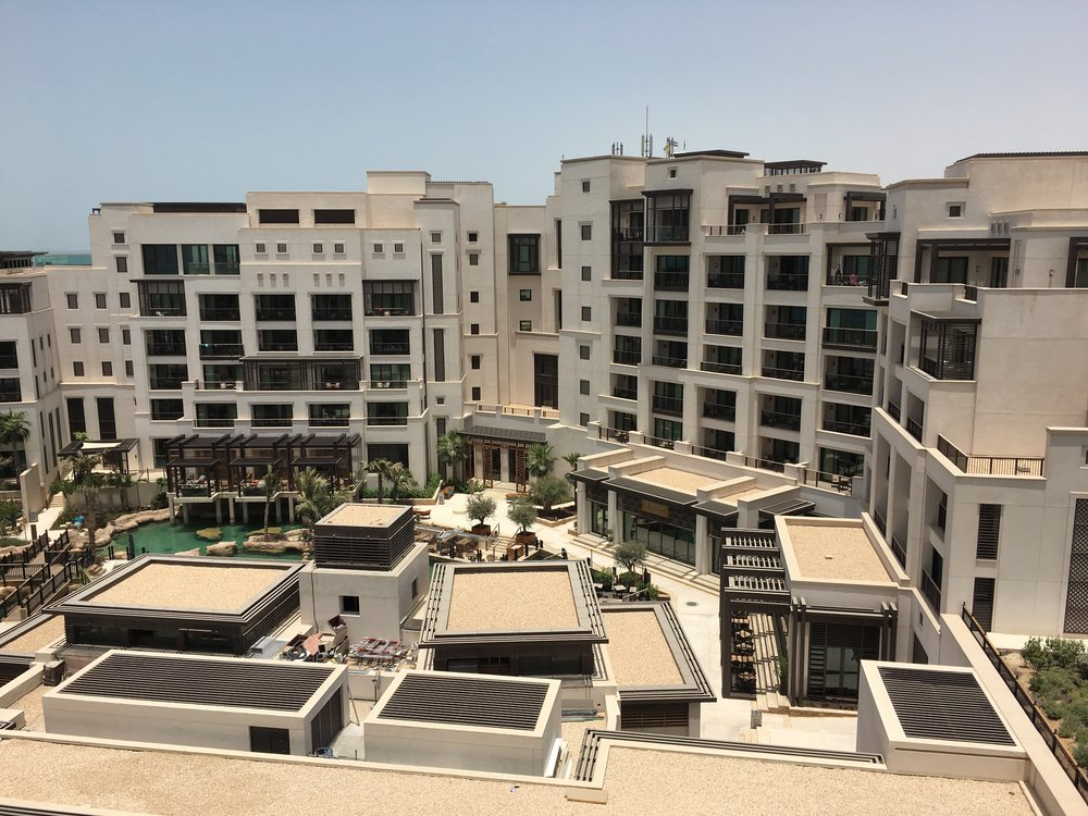 View onto the brand new addition to the Madinat - the Al Naseem hotel