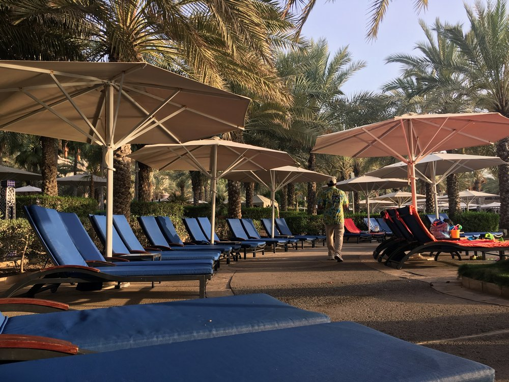 The Al Qasr pool area is much larger than that of the Mina A'Salam - luckily you are allowed to use all the pools in the Madinat