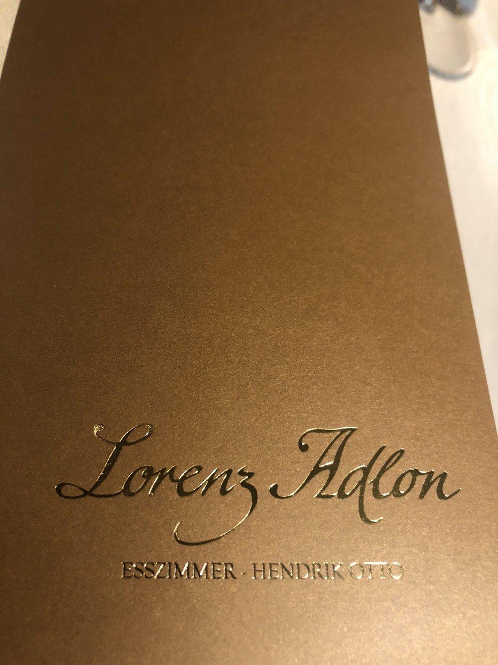 Lorenz Adlon Esszimmer Fine Dining Berlin Continental Traveller