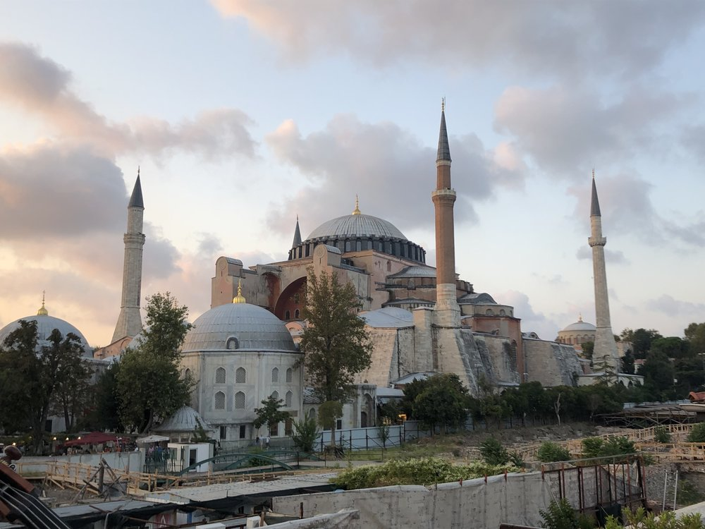 Hagia Sophia - and an archaeological dig in front of the hotel