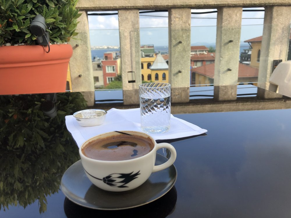 Turkish coffee with a view
