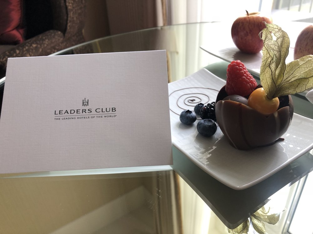 The usual Leaders Club greeting card and corresponding sweets
