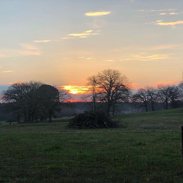 Take time to watch the sunrise or sunset soon. It does something wonderful to the soul. • • #tellpellandcompany #homesweethome #godsgrace #sunrise #sunset #meditation