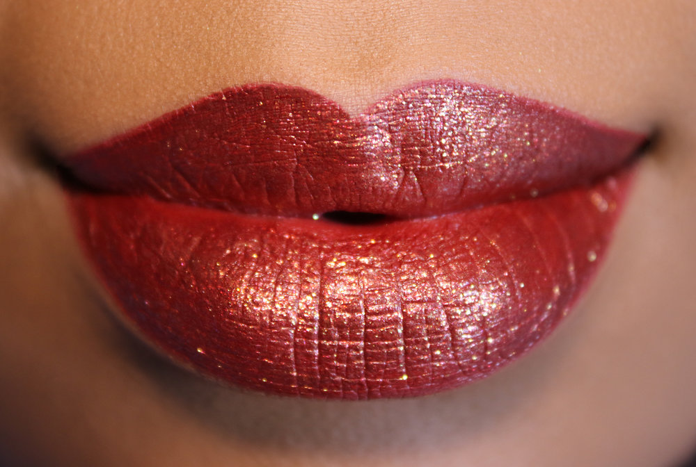 KAT VON D Everlasting Glimmer Veil Liquid Lipstick in Rocker and Project Chimps closer.jpg