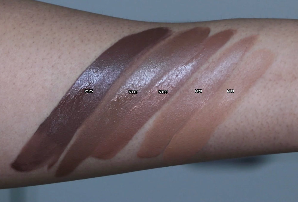 Swatches in N80 N90 N100 N110 and P125