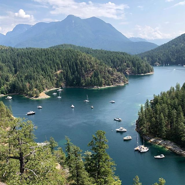 Looking down on Tenedos bay in Desolation Sound after hiking the scramble. What a great day. Have you been there?
