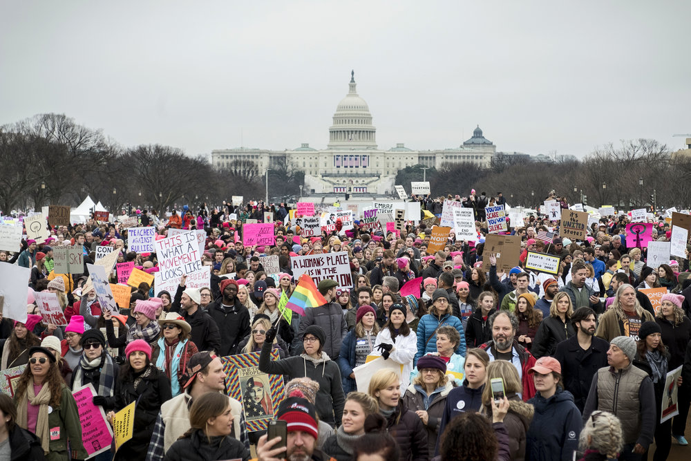 Women's March on Washington, Jan. 21, 2017. Photo Credit: Katie Orlinksy