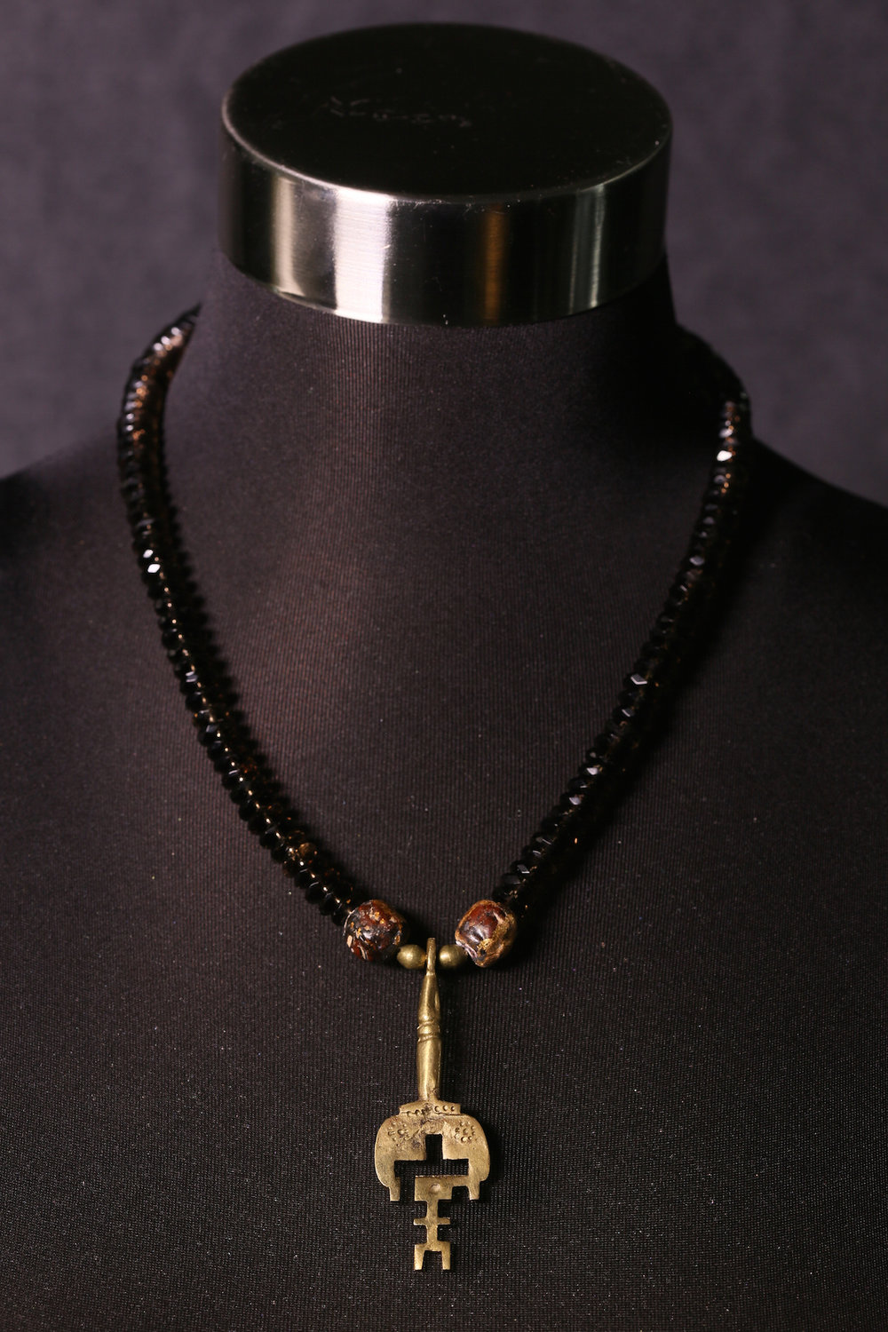 Garnet with Small Tibetan Key