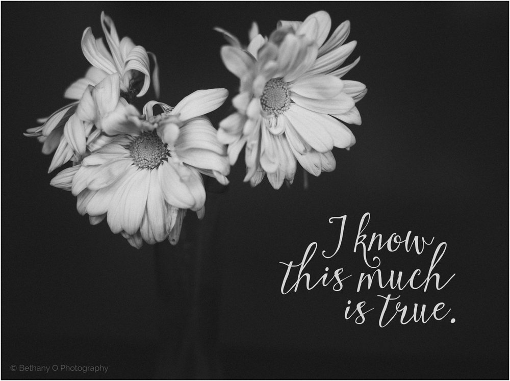 I know this much is true flowers