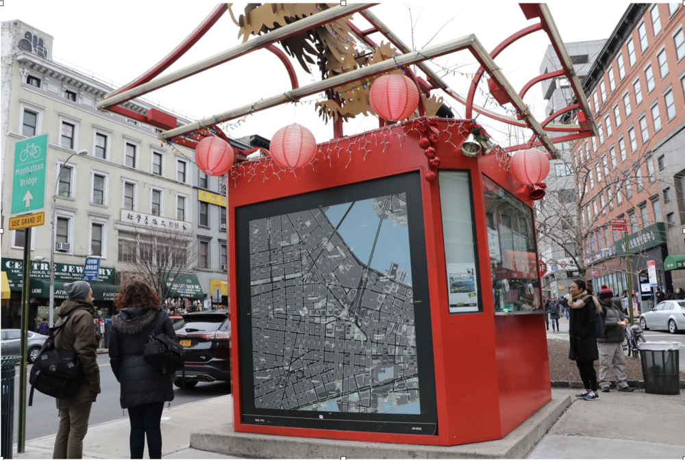 The current kiosk or gateway to chinatown is tiny, underutilized, and is usually unattended.