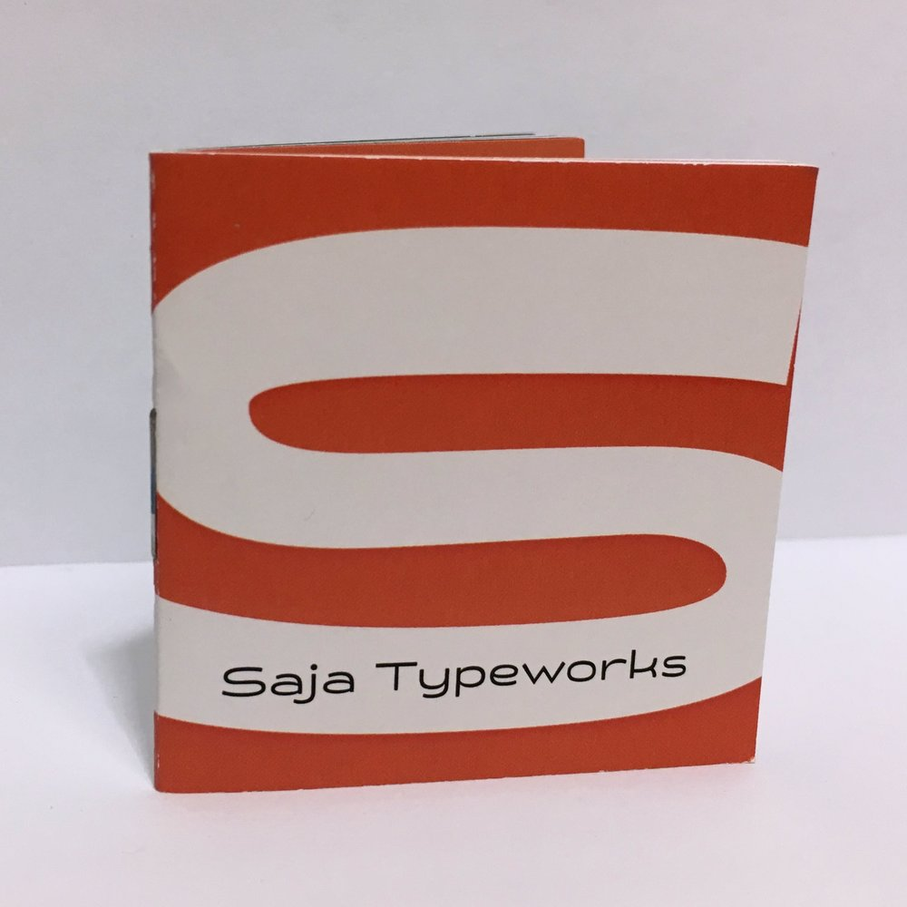 Saja Typeworks Chapbook