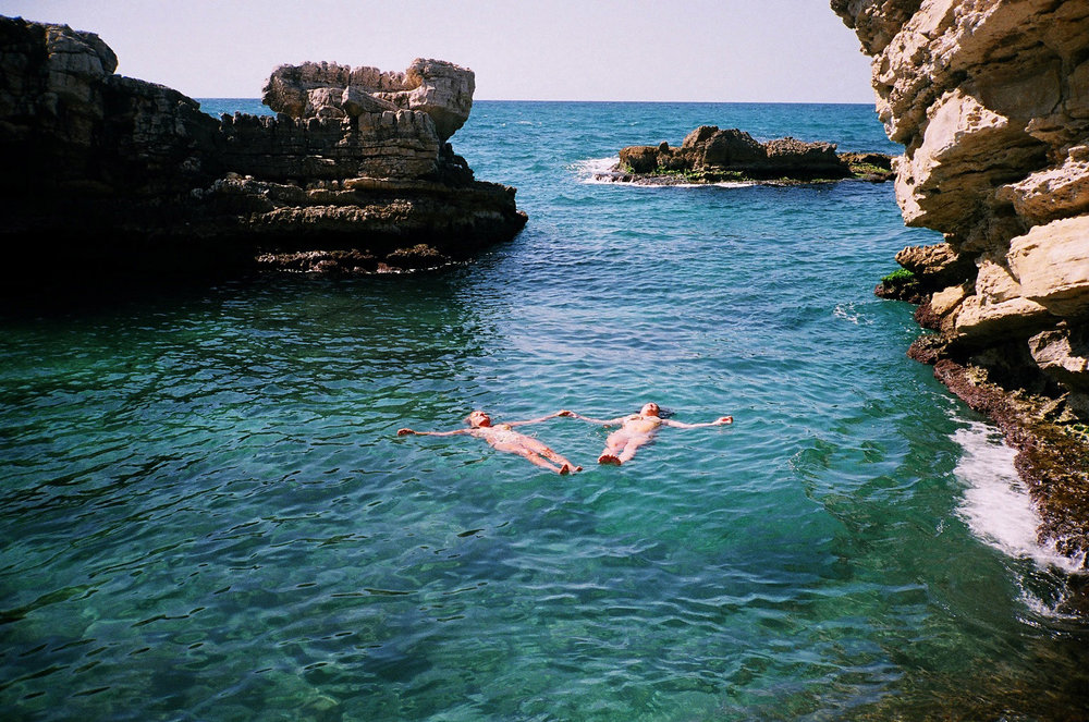 Joining beach in kfarabida, an 8-minute drive from beit al batroun