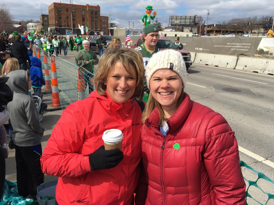 St. Patrick's Parade 2016 with Jackie Ludwig a close family friend.