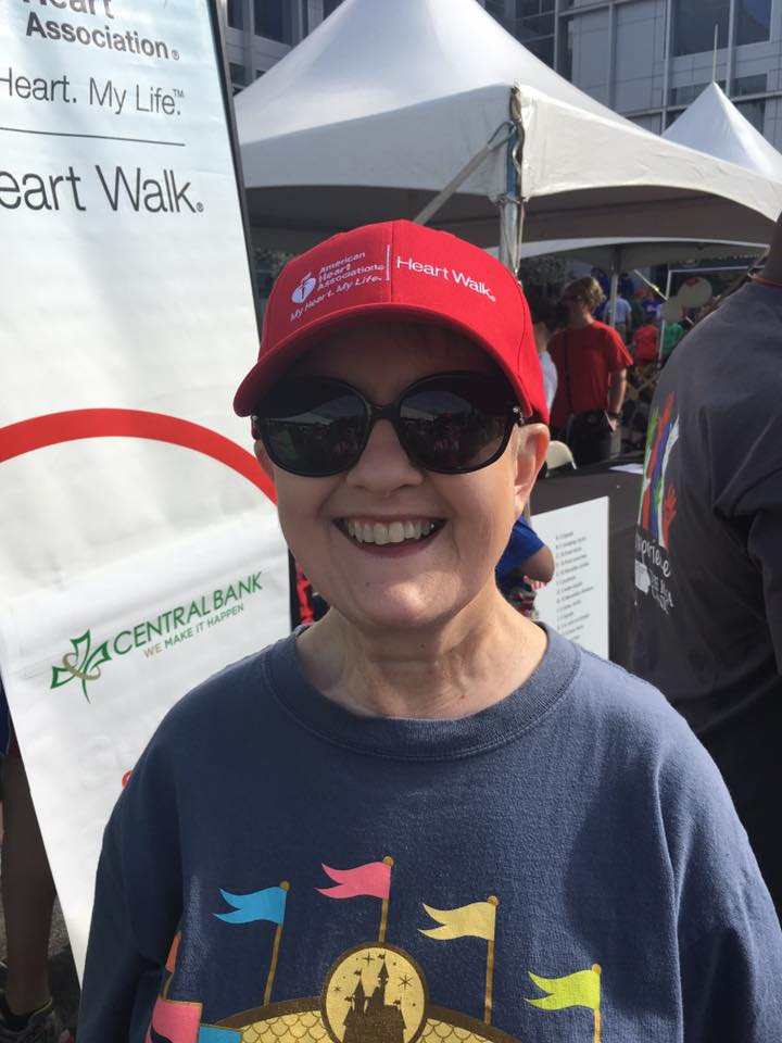 Aunt Trish sporting her survivor hat at the Heart Walk in April 2016!! She is both a stroke and heart attack survivor and one amazing women that I am blessed to call family!!