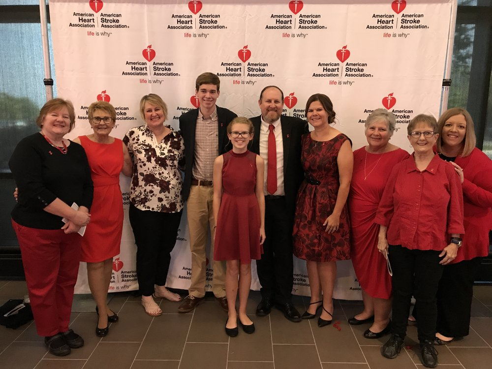 "Honored to be the ""survivor story"" for the Go Red for Women 2017 dinner. So touched that this amazing family could join me in my journey."