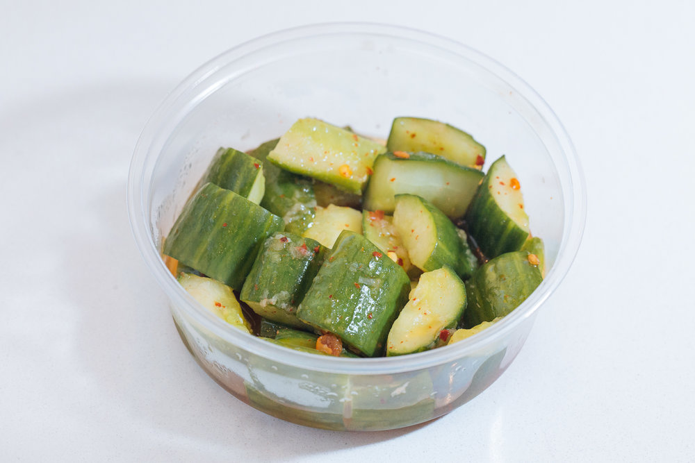 Smashed Cucumber Salad (V)(GF)
