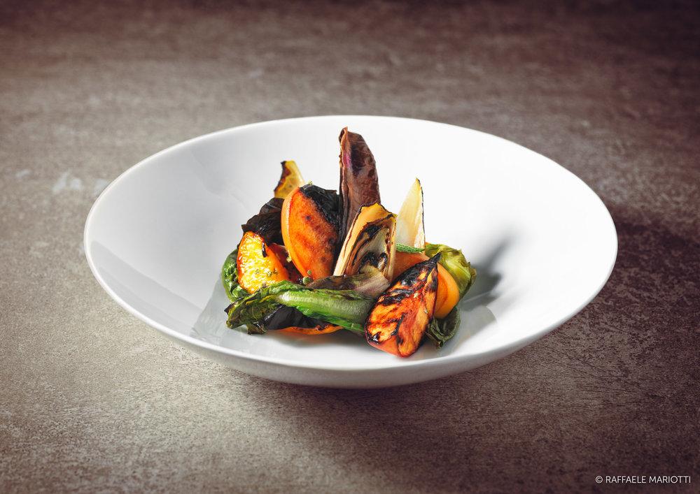 Insalata di pesche grigliate – Raffaele Mariotti fotografo food