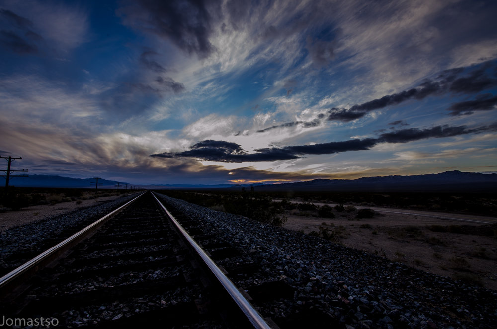 Union Pacific Railroad at Sunset