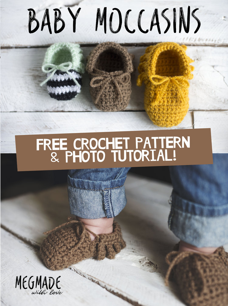 Crochet Baby Moccasins Pattern Megmade With Love