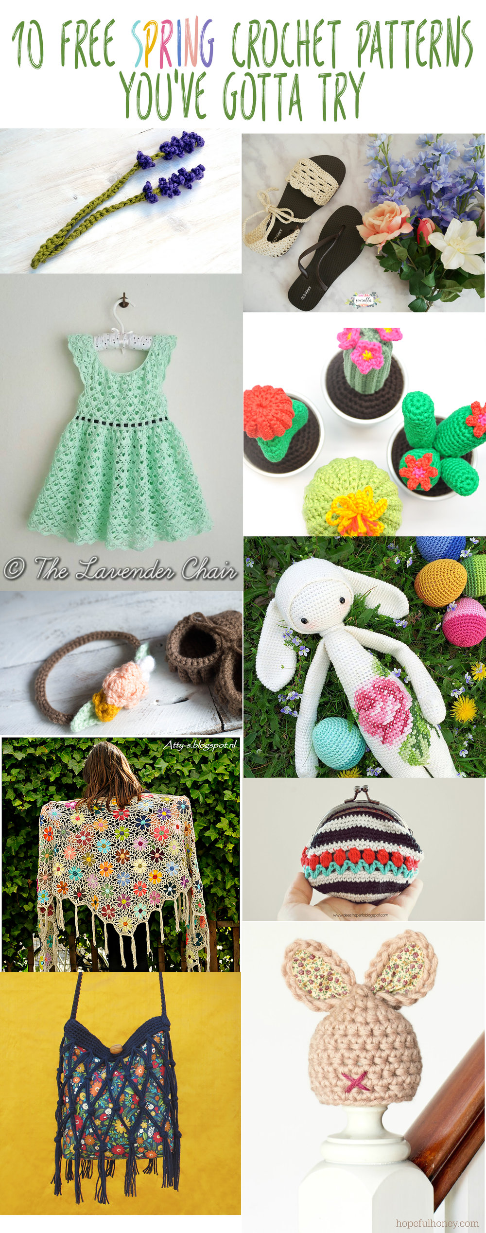 Ten Free Spring Crochet Patterns You\'ve Gotta Try — Megmade with Love