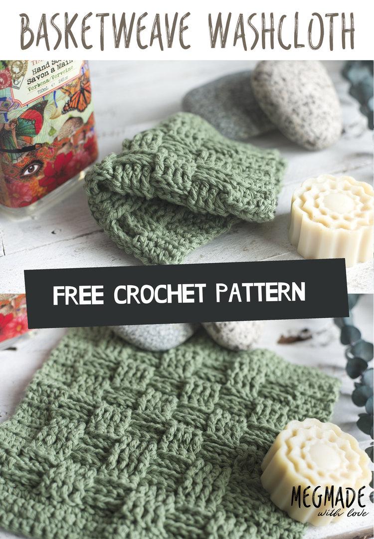 Basket Weave Stitch Washcloth Pattern — Megmade with Love