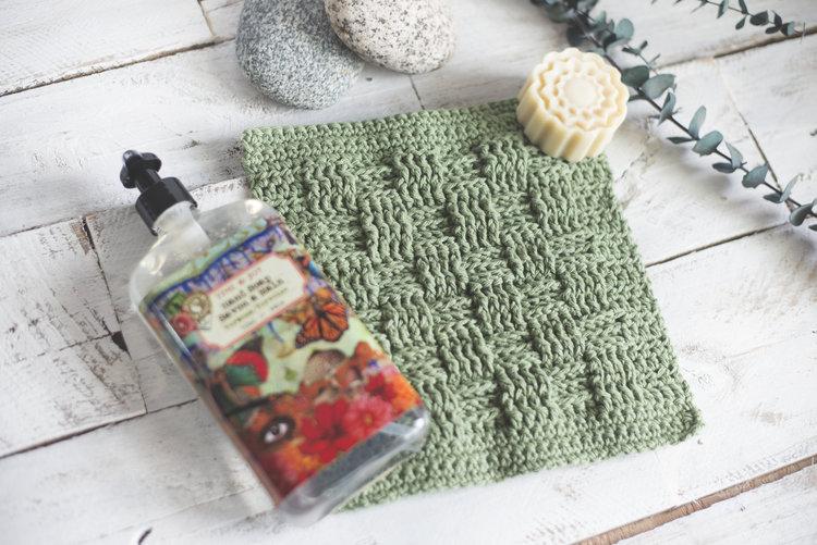 Basket Weave Stitch Washcloth Pattern Megmade With Love