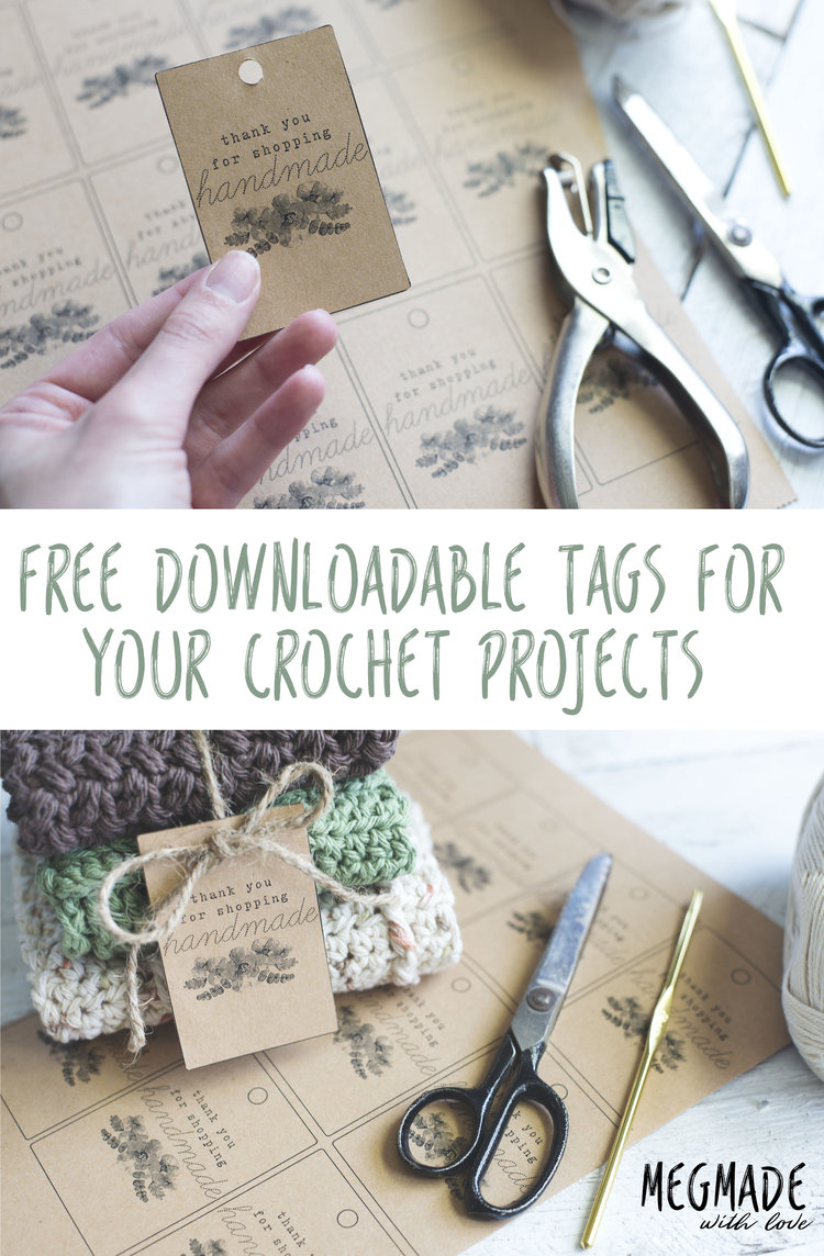 free download tags for your handmade items megmade with love