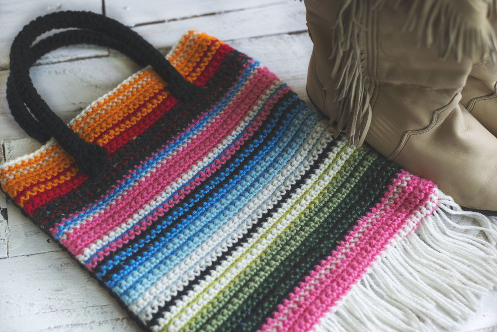 Crochet Serape Blanket Bag Pattern — Megmade with Love