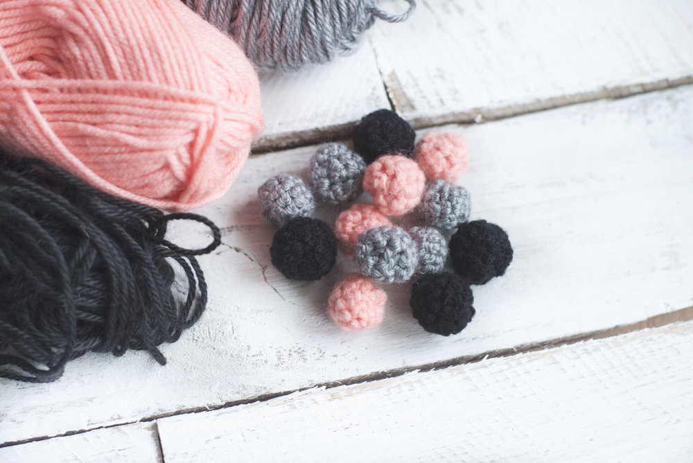 Mini Crochet Ball Garland Pattern Megmade With Love