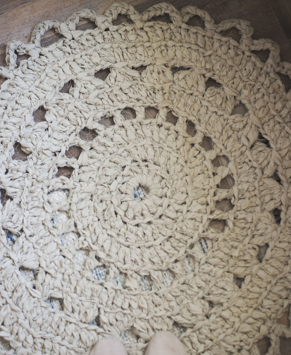 Crochet Pattern for a Doily Rag Rug Made from Bed Sheets — Megmade ...