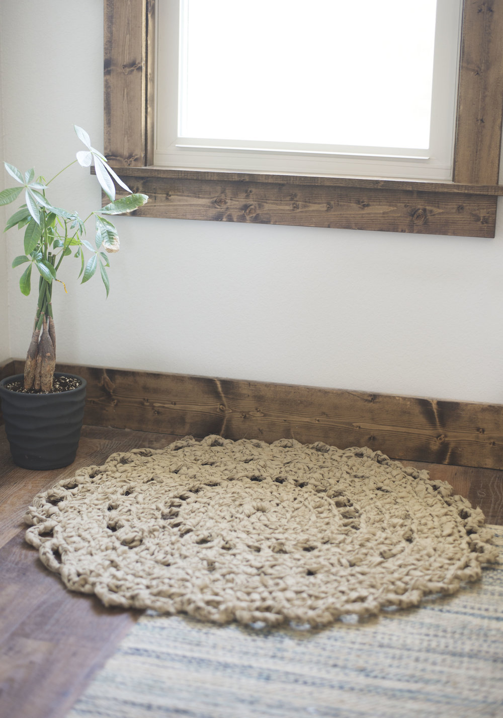 Crochet Pattern For A Doily Rag Rug Made From Bed Sheets Megmade