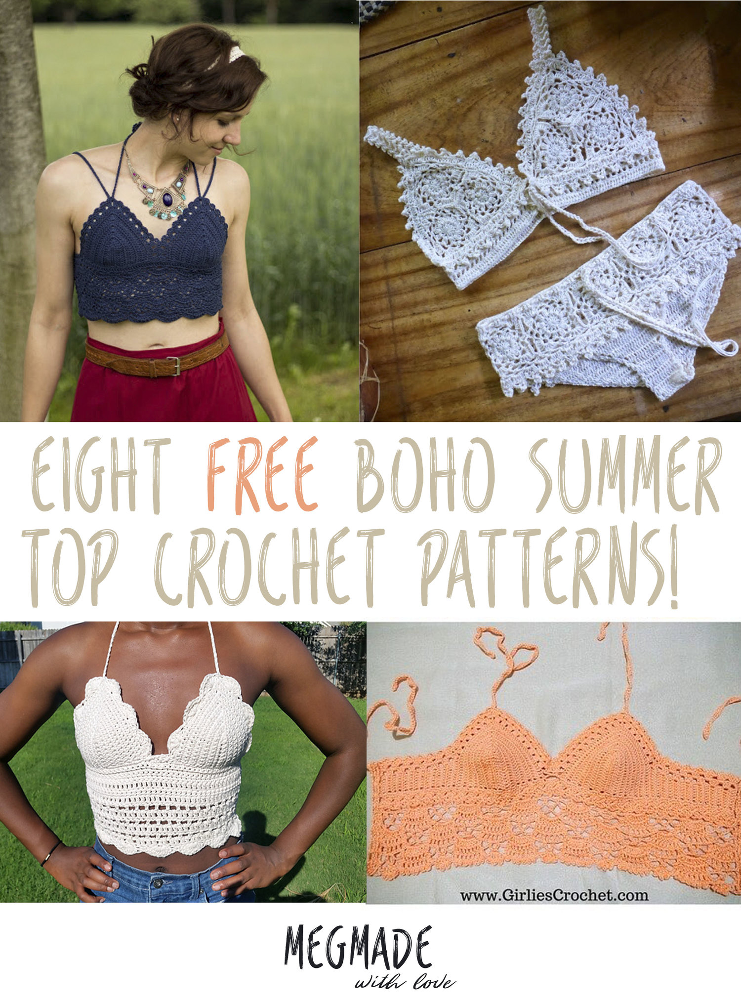 8 Free Boho Summer Top Crochet Patterns Megmade With Love
