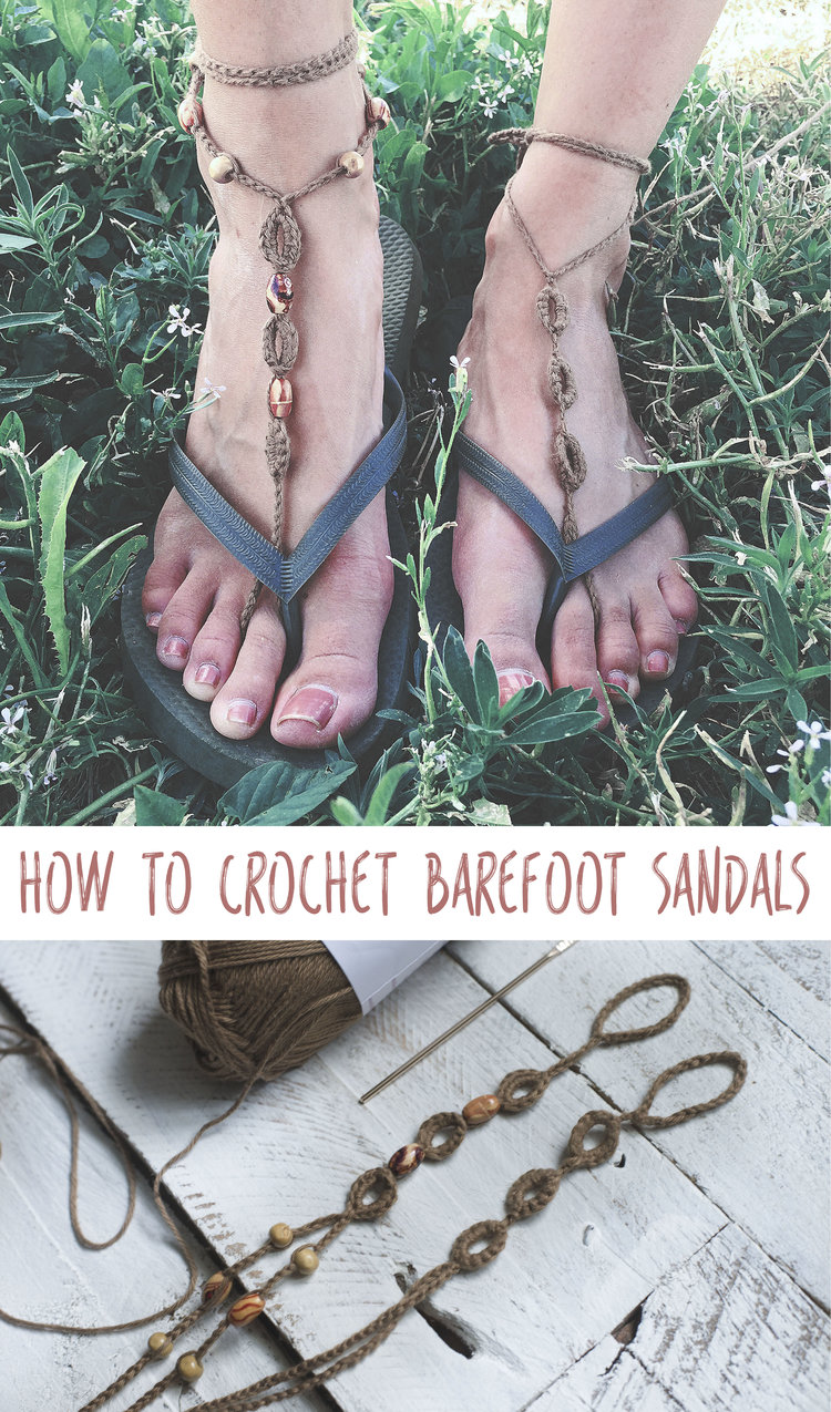 Crochet Pattern for Barefoot Sandals — Megmade with Love