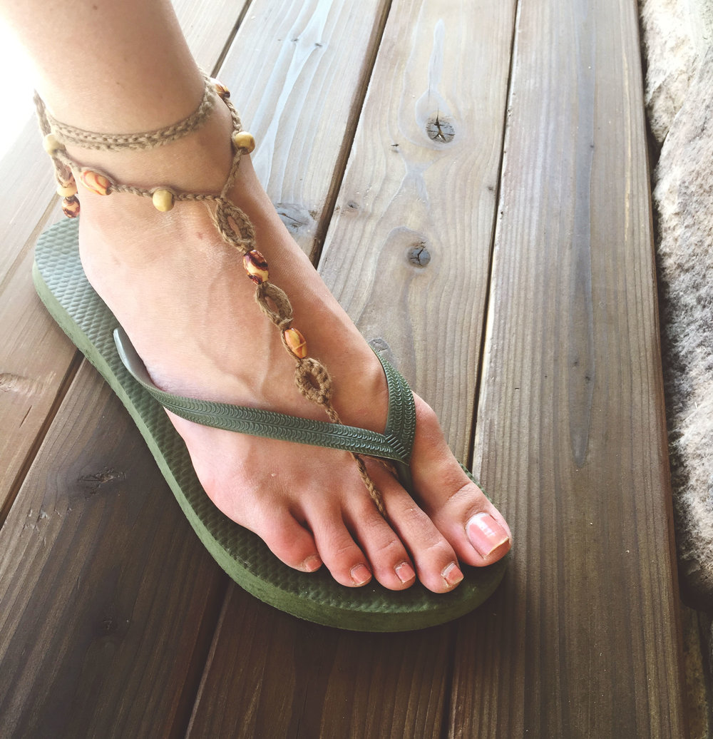 Crochet Pattern For Barefoot Sandals Megmade With Love