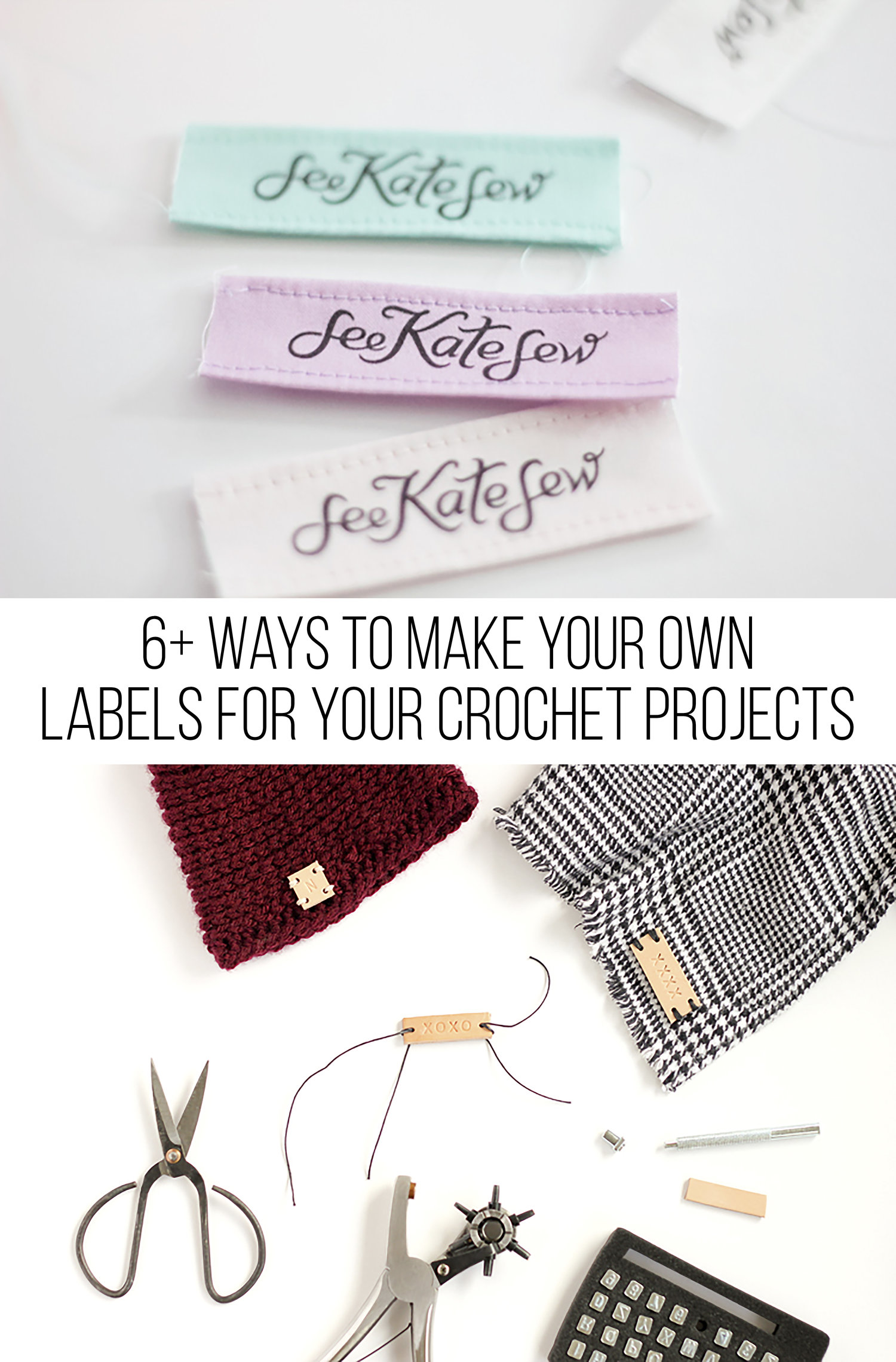 6 Ways To Make Your Own Labels For Crochet Projects Megmade With Love