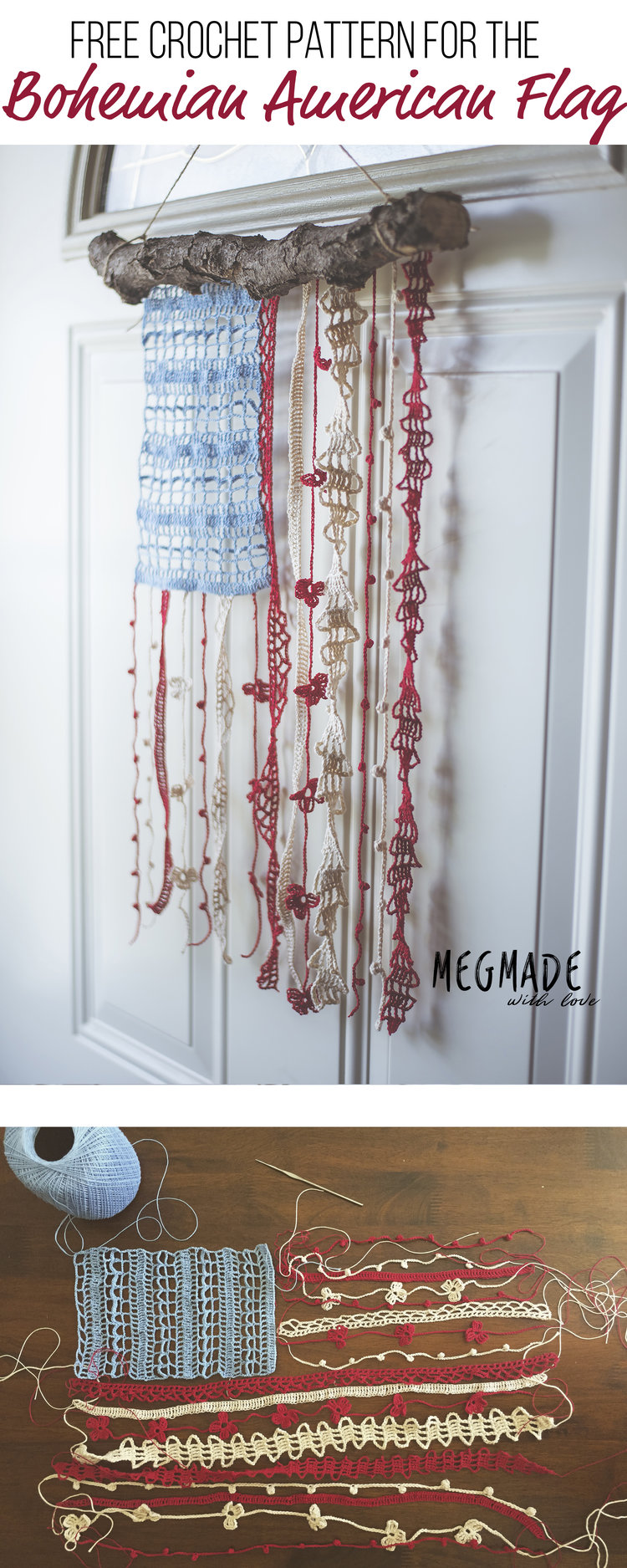 Bohemian American Flag Crochet Pattern Megmade With Love