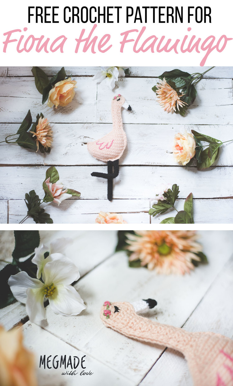 Free Crochet Pattern For Fiona The Flamingo Megmade With Love