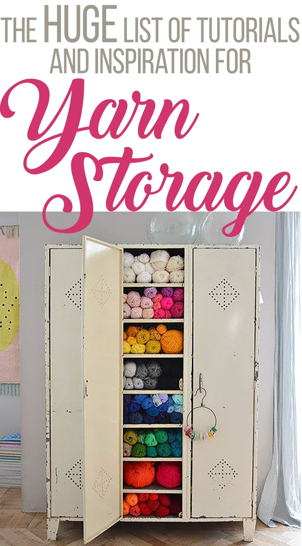 Click Here for ideas on how to store your lovely yarn