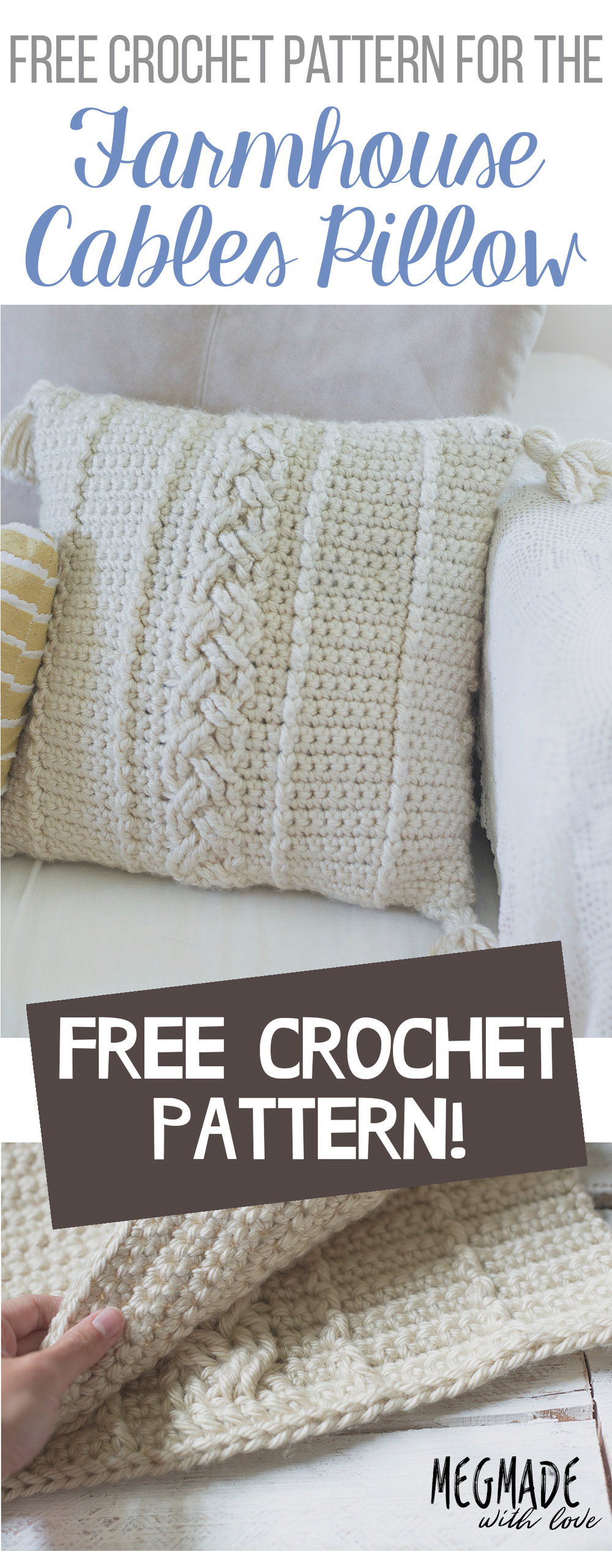 Another free farmhouse pattern the comfy cables pillow cover another free farmhouse pattern the comfy cables pillow cover bankloansurffo Gallery