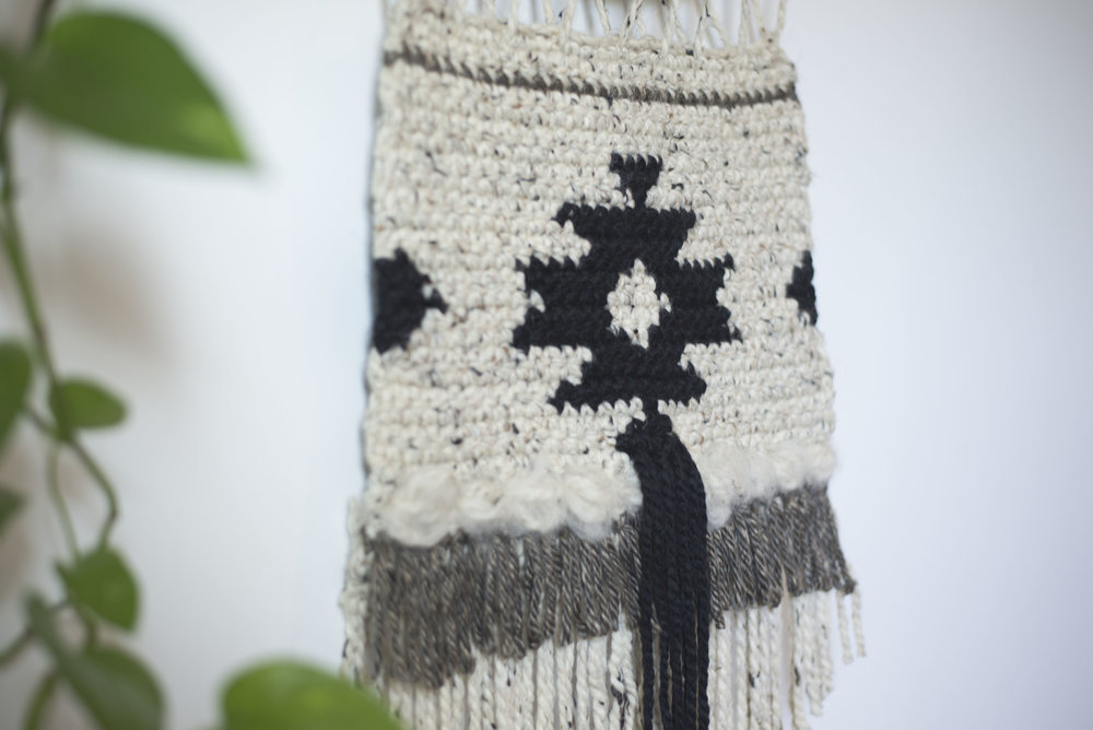 Free Crochet Pattern For The Geometric Wall Hanging Megmade With Love